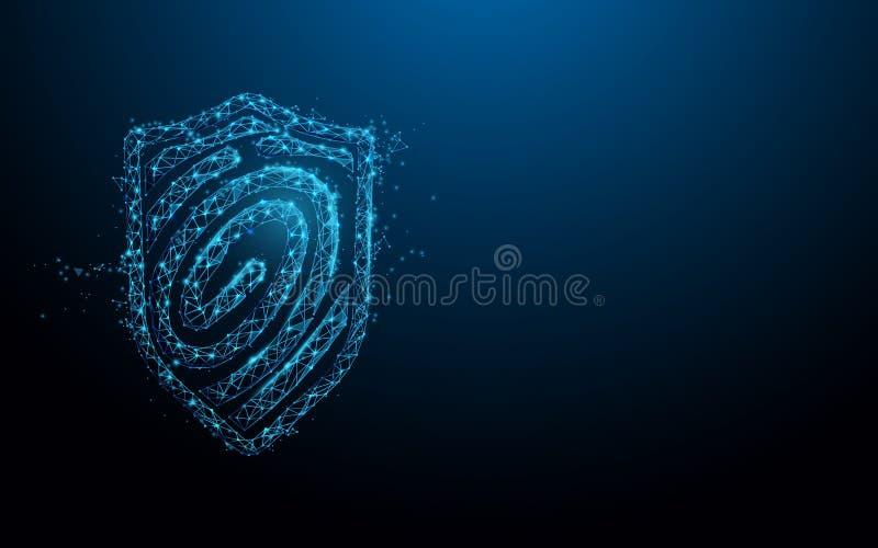 指纹扫描 安全保障概念 r 皇族释放例证