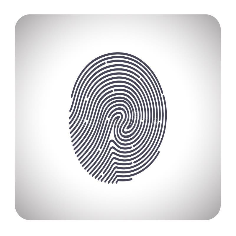 指纹扫描 库存例证