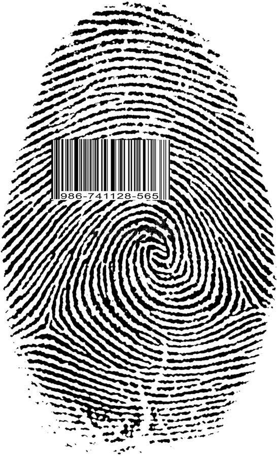 指纹条形码 向量例证