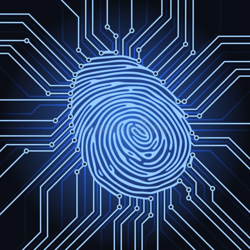 指纹电子 库存例证