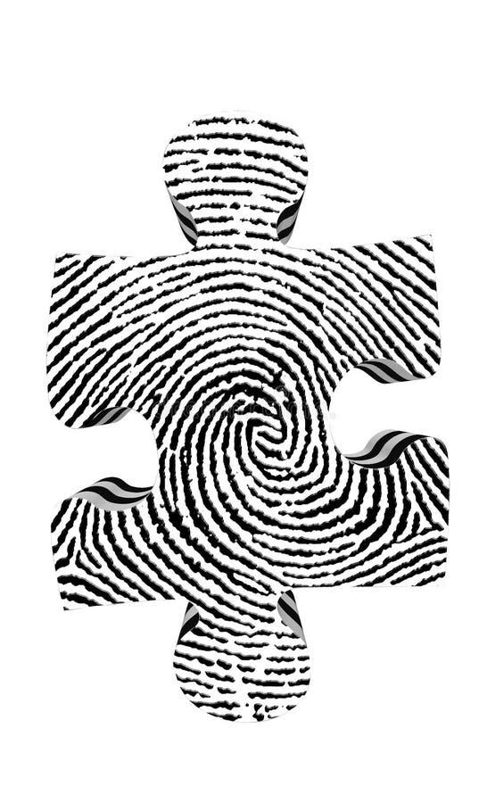 指纹部分难题 向量例证