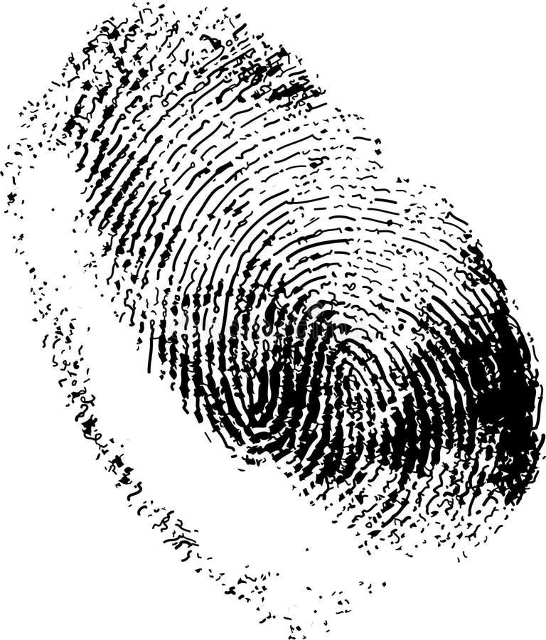 指纹 库存例证