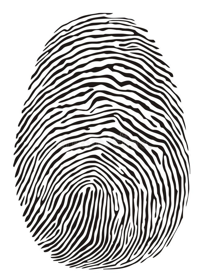 指纹 向量例证