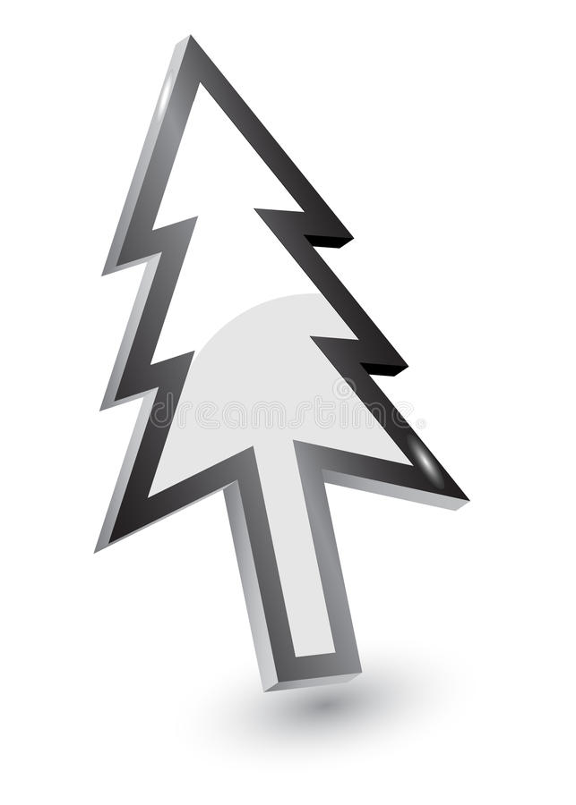 指针结构树版本xmas 库存例证
