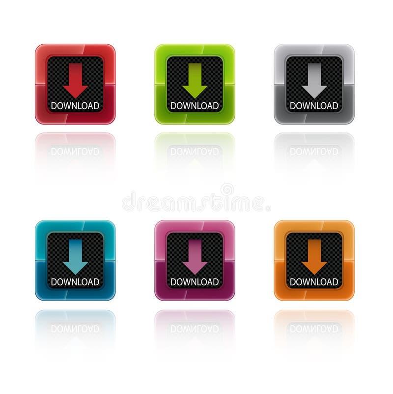 按五颜六色的下载 库存例证
