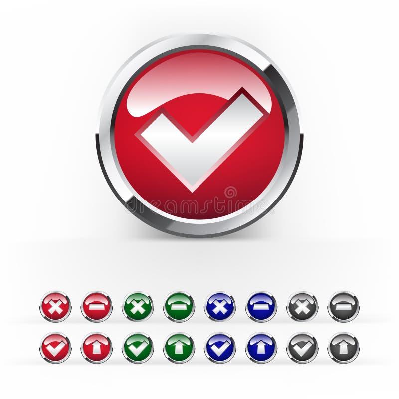 按五颜六色的设计向量万维网 库存例证