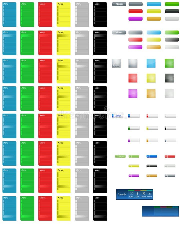按五颜六色的页万维网 向量例证