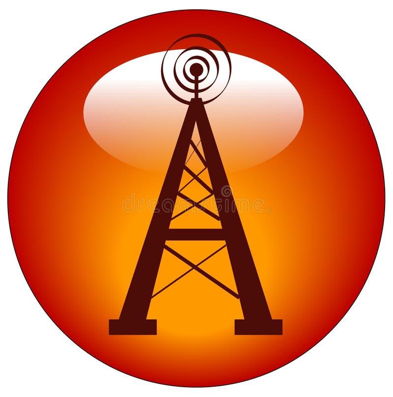 按图标无线电铁塔 向量例证