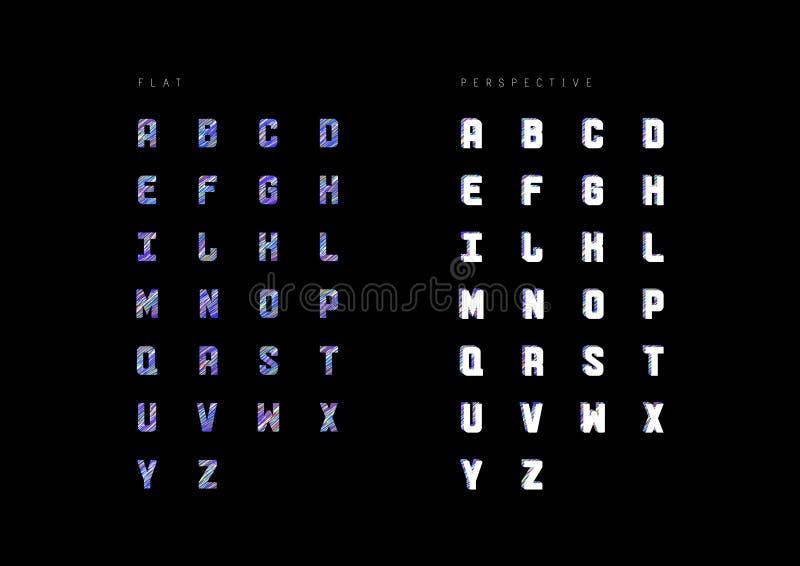按字母顺序的书信设计的PrintIllustration 库存例证