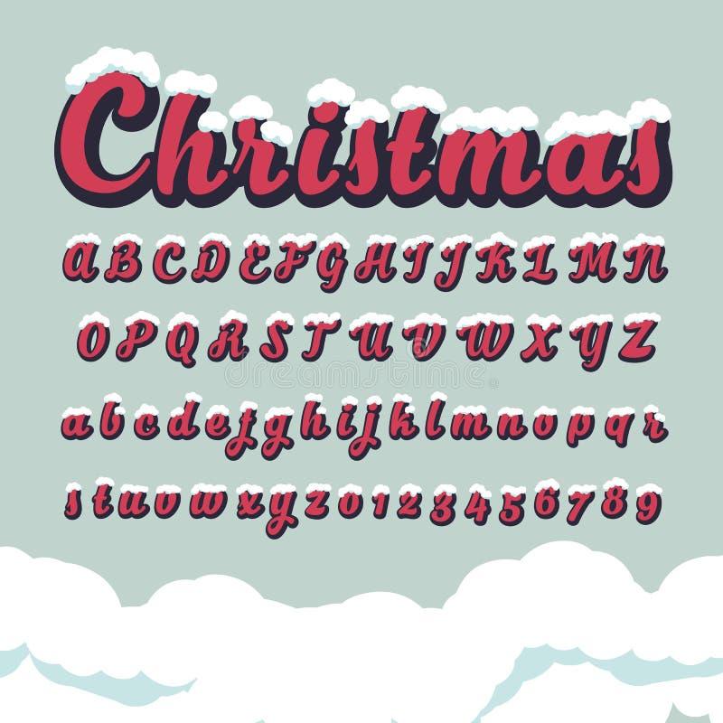 Download 按字母顺序的字体和数字圣诞节的 向量例证. 插画 包括有 颜色, 艺术性, 创造性, 装饰, 尺寸, 字体 - 62526134
