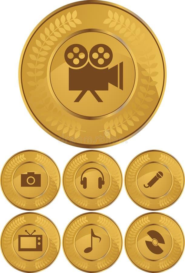 按币金多媒体 向量例证
