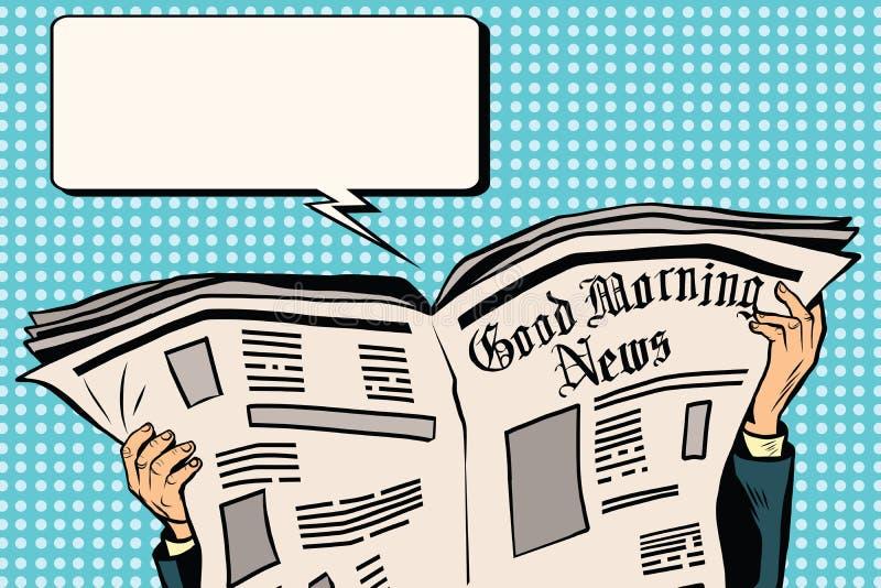 按报纸读的新闻 向量例证