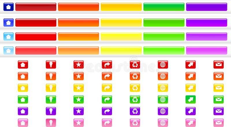 按收集颜色菜单 库存例证