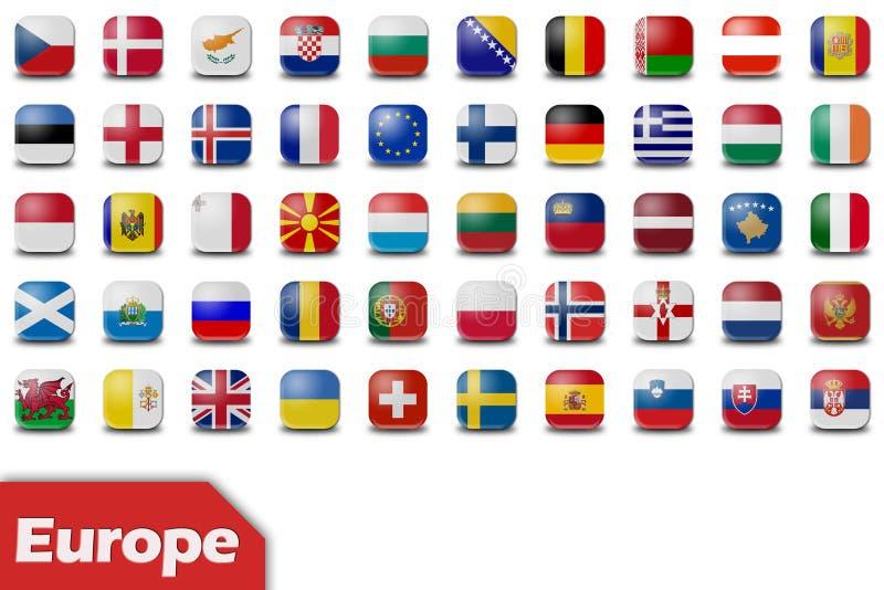 按欧洲标志 库存例证