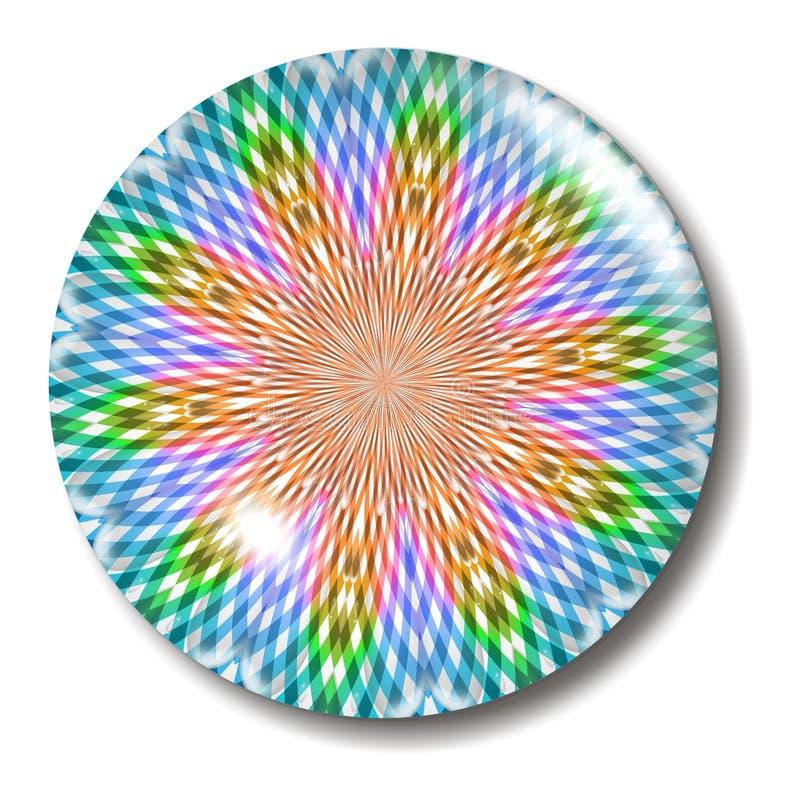 按玻璃多彩多姿的天体格子花呢披肩 向量例证