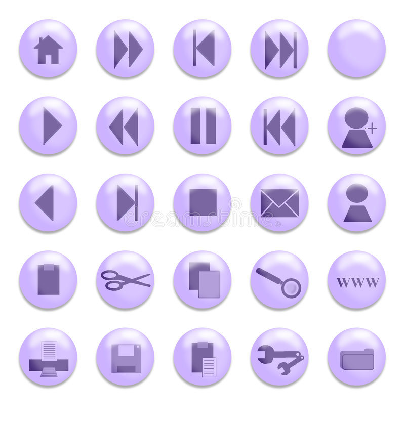 按玻璃紫色 向量例证