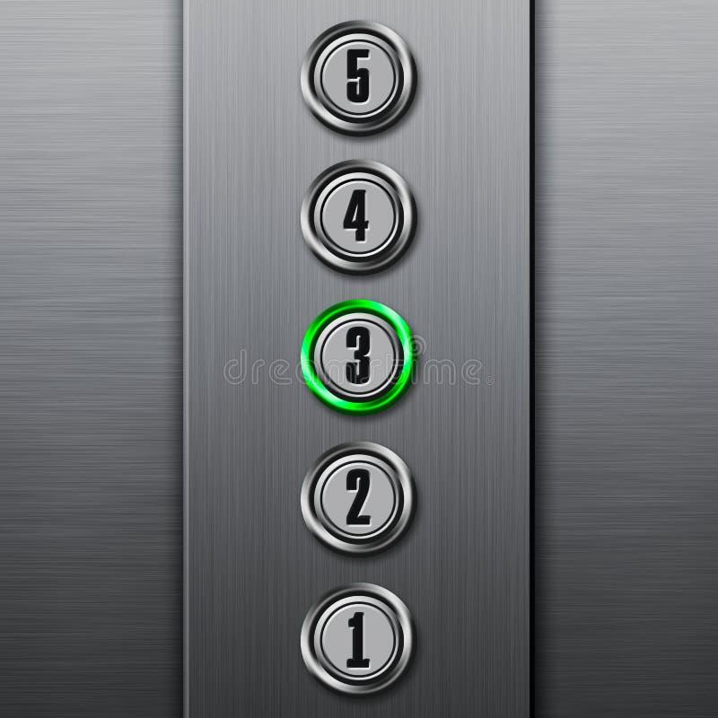 按电梯面板 库存例证