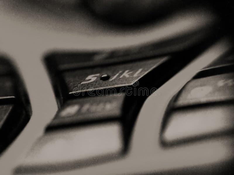 按移动电话 库存照片