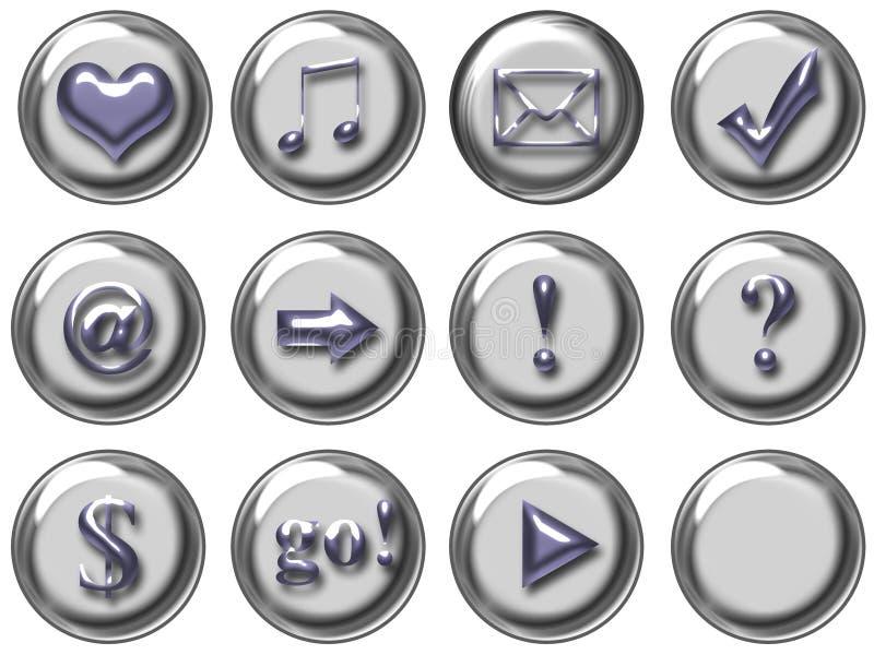 按钮万维网 库存图片