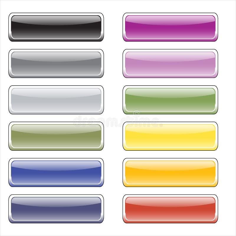 按钮上色光滑的万维网 免版税库存照片