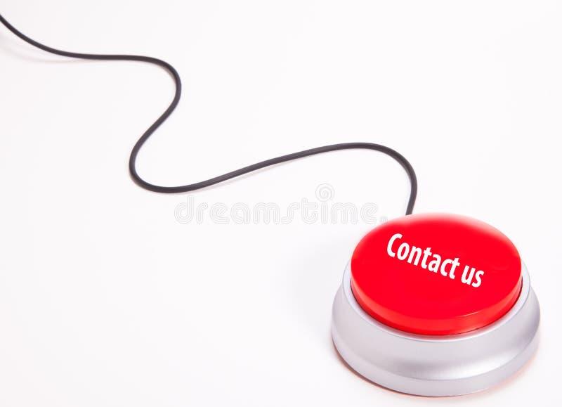 按钮与我们联系 免版税库存图片