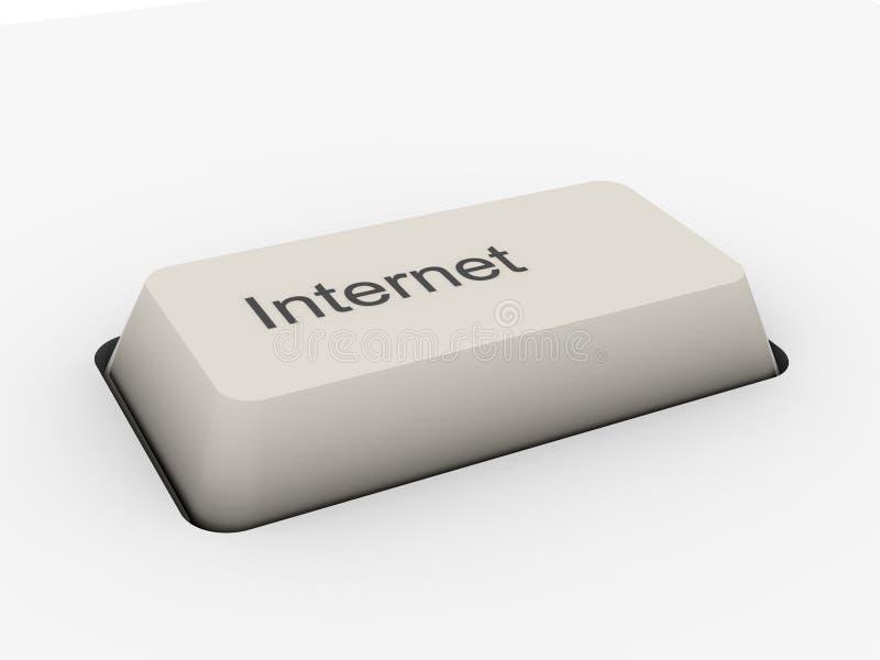 按钮互联网关键董事会 皇族释放例证