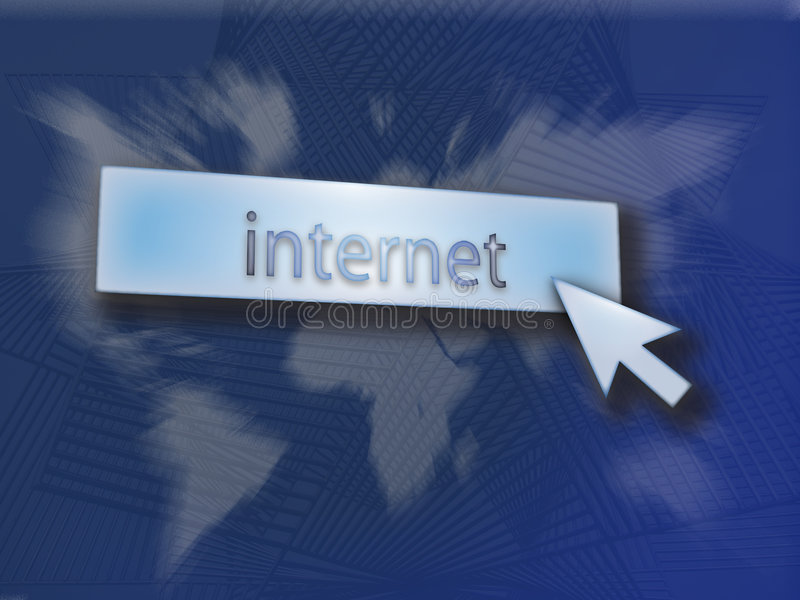 按钮互联网 库存例证