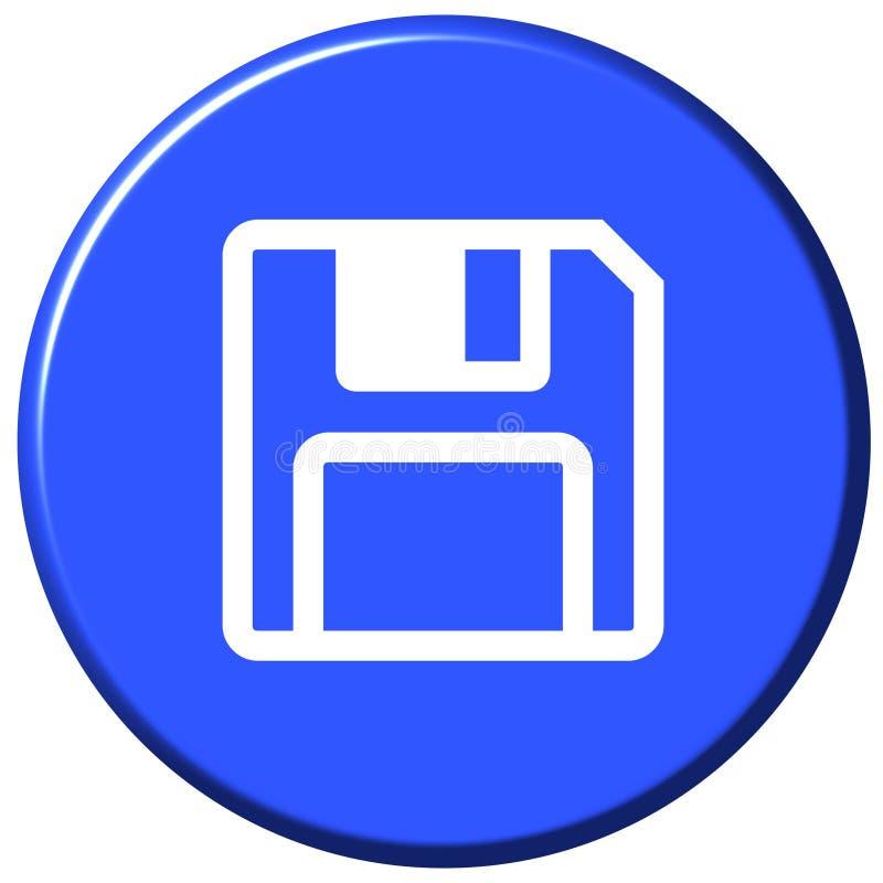 按钮保存 库存例证