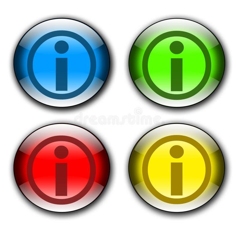 按钮信息集 向量例证