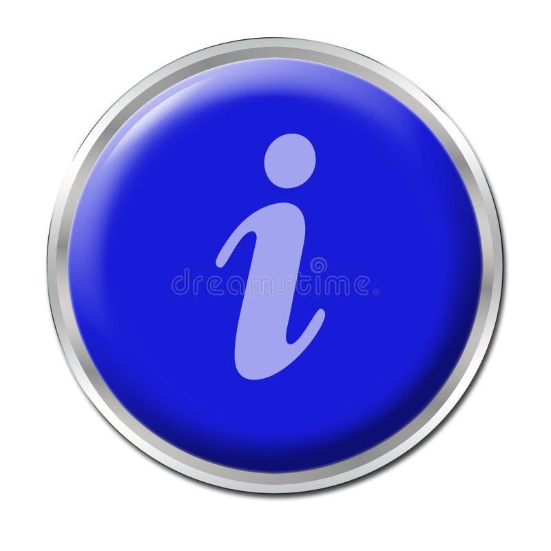 按钮信息 库存例证