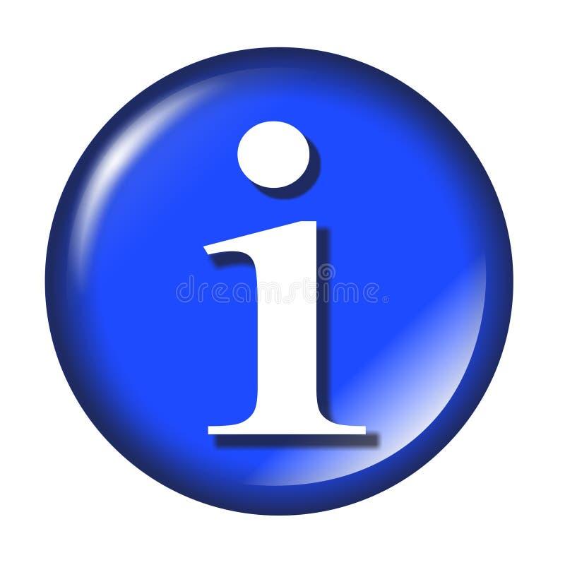 按钮光滑的信息万维网 库存例证