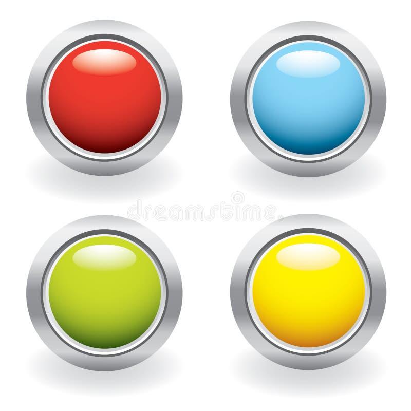 按钮光滑的集 向量例证