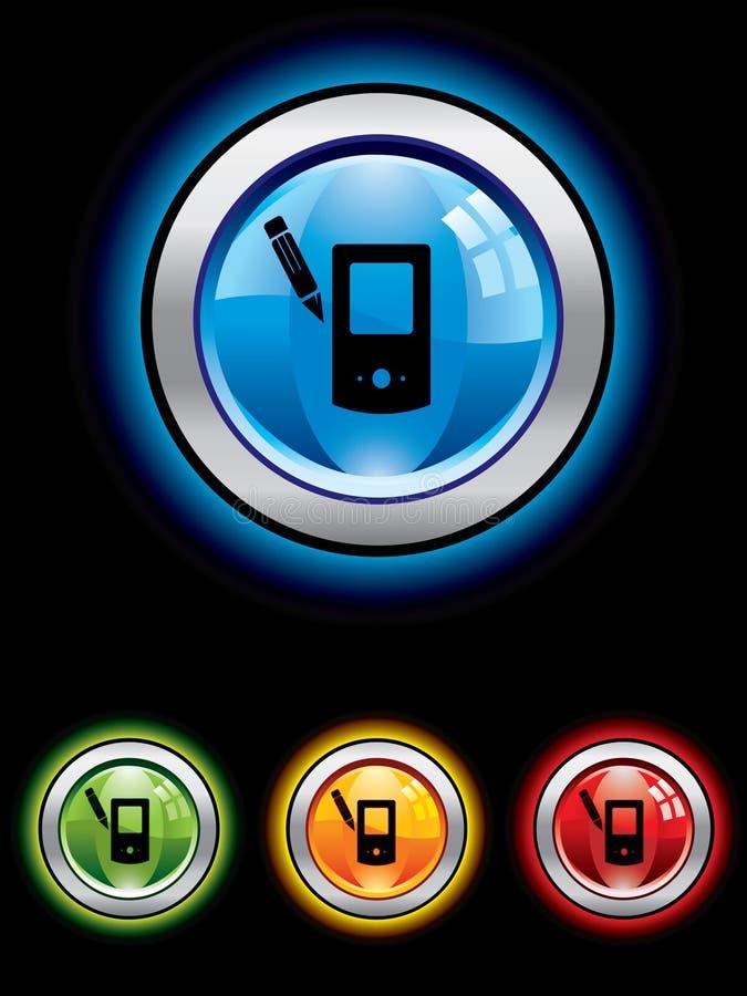 按钮光滑的Palm牌控制器 皇族释放例证