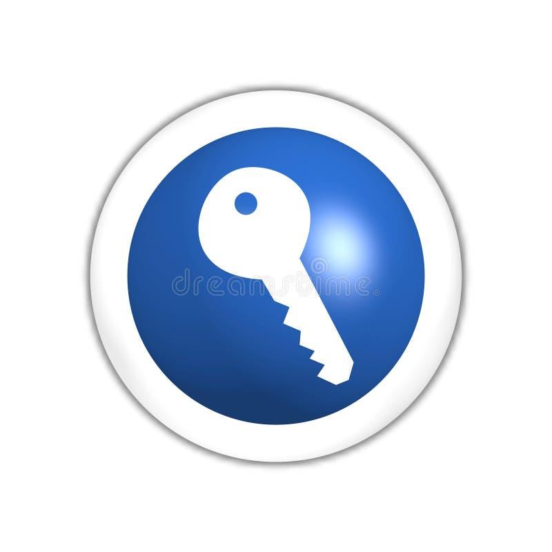 按钮关键万维网 皇族释放例证