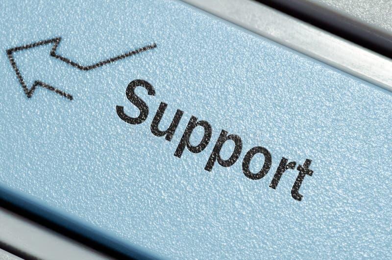 按钮关键董事会技术支持 免版税库存照片