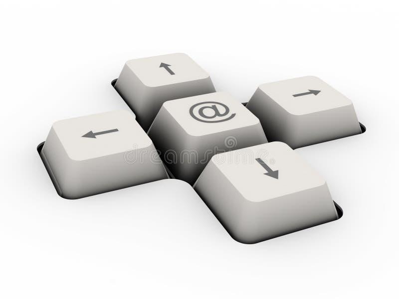 按钮别名关键董事会邮件 皇族释放例证