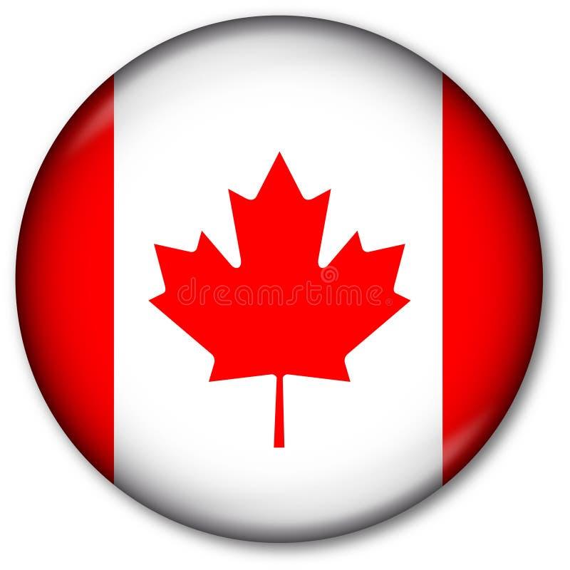 按钮加拿大标志 皇族释放例证