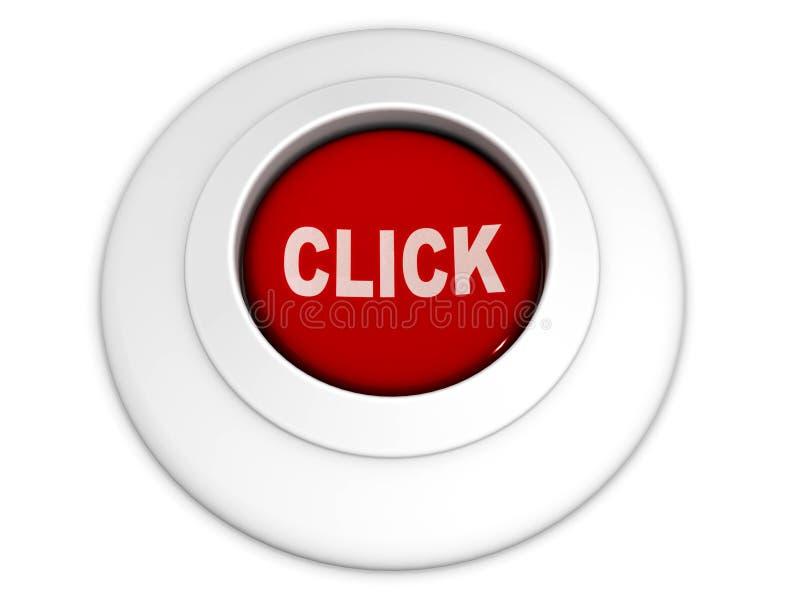 按钮单击 向量例证