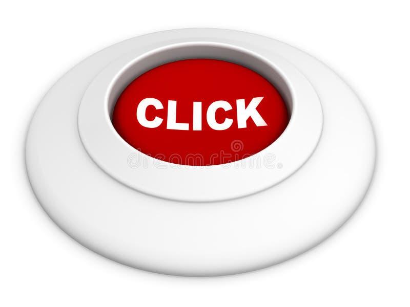 按钮单击 库存例证