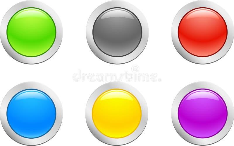 按钮原始的向量 库存例证