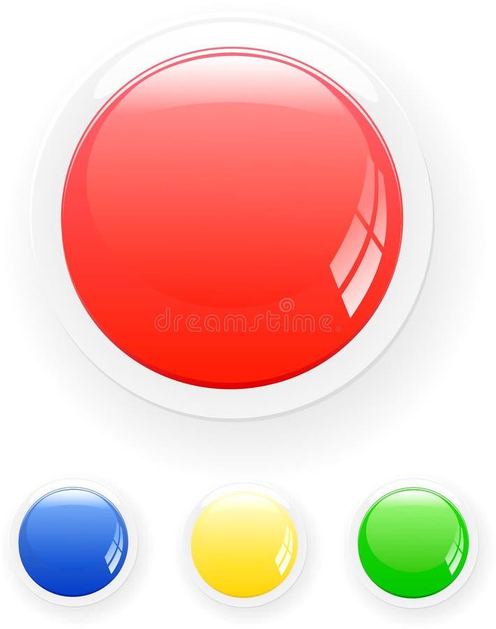 按钮向量 向量例证