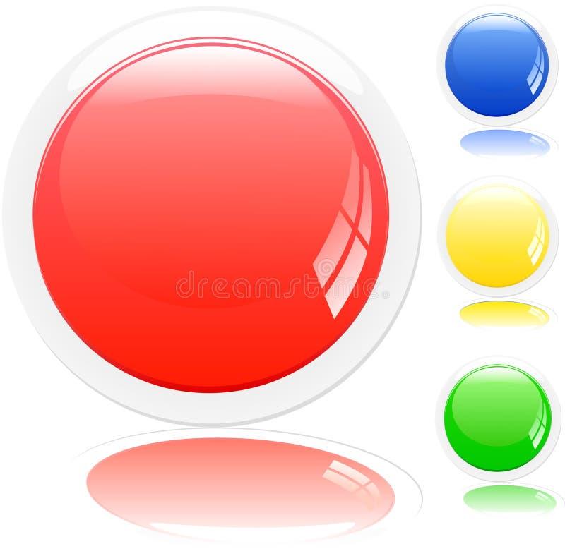 按钮向量 库存例证
