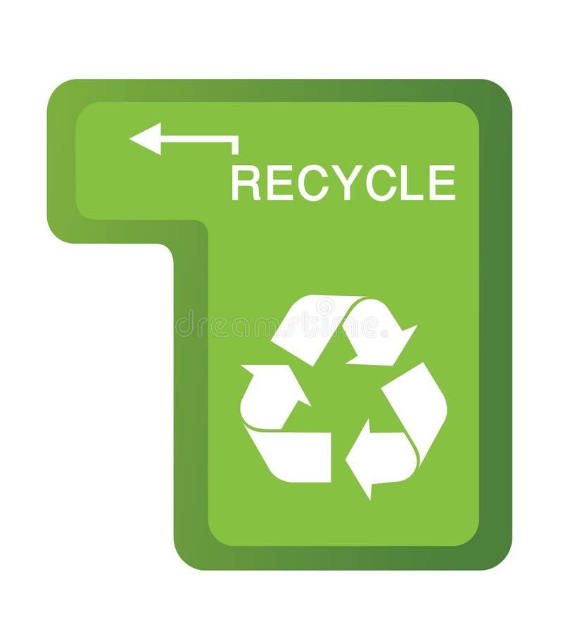 按钮回收 库存例证