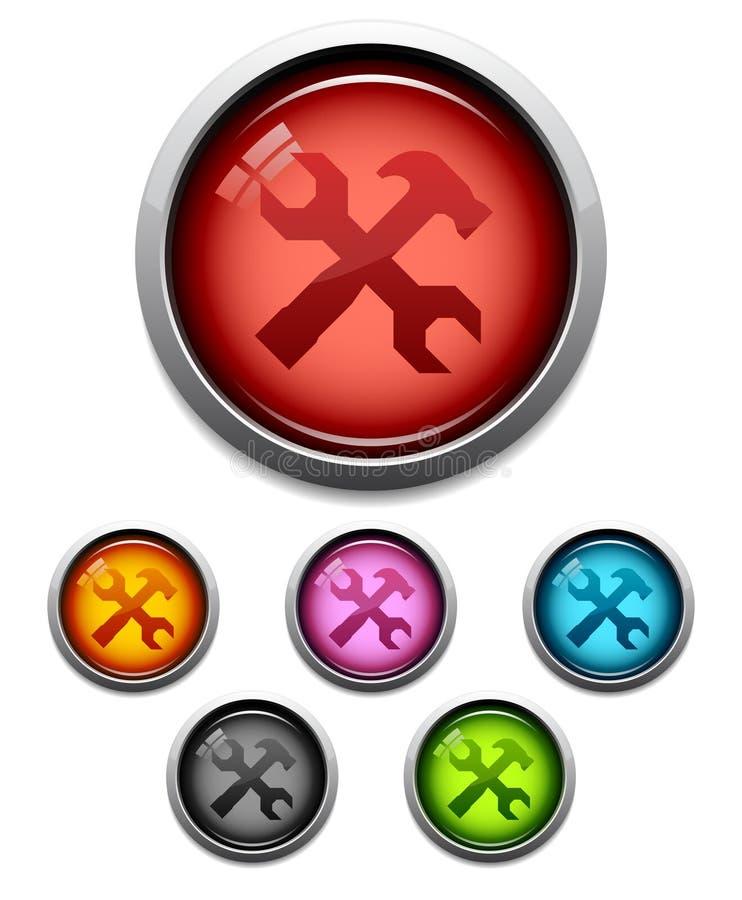 按钮图标工具 库存例证