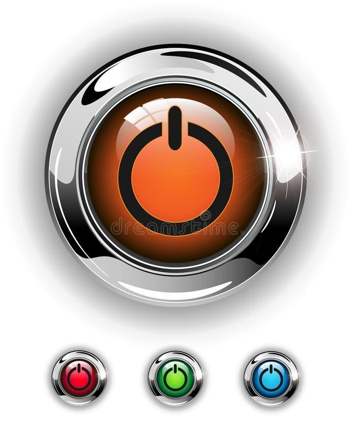 按钮图标起始时间 皇族释放例证