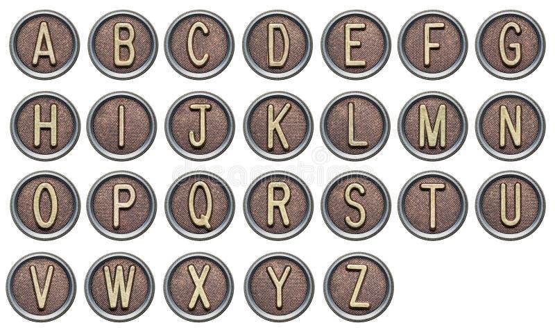 按钮字母表 库存照片