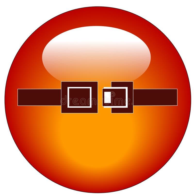 按钮安全带万维网 向量例证