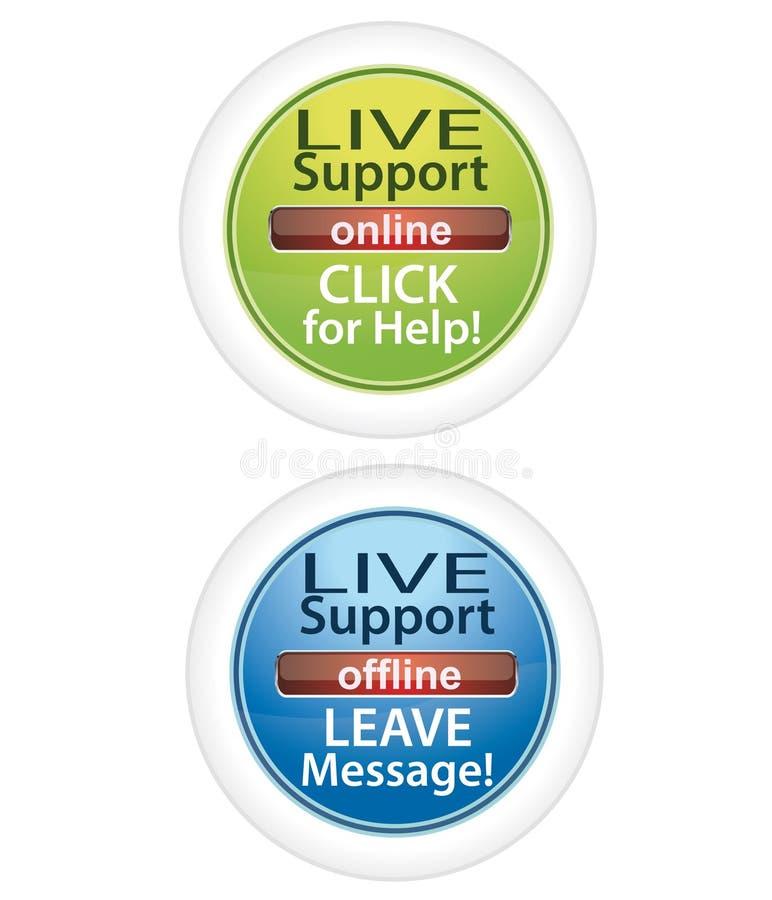 按钮客户活技术支持 向量例证