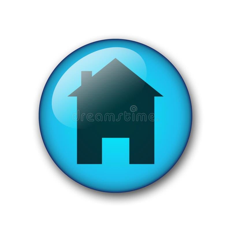 按钮家庭万维网 向量例证