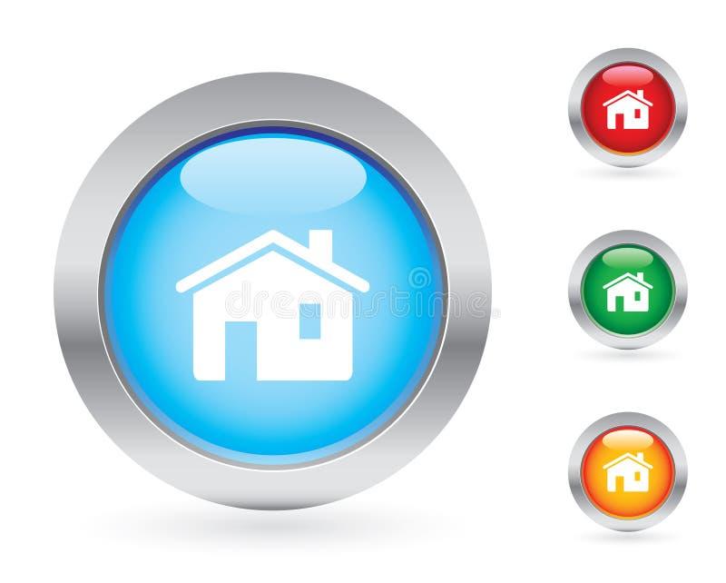 按钮家庭互联网集 库存例证